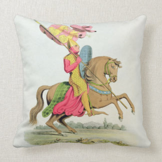 Richard Fitzhugh, Constable of Chester and Standar Throw Pillow