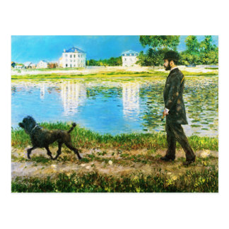 Richard Gallo and His Dog by Gustave Caillebotte Postcard