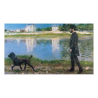 Richard Gallo and His Dog - Gustave Caillebotte Business Card Template