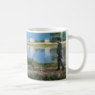 Richard Gallo and His Dog - Gustave Caillebotte Classic White Coffee Mug