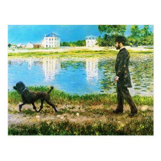 Richard Gallo y su perro de Gustave Caillebotte Tarjetas Postales