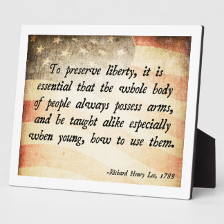 Richard Henry Lee Quote Plaque