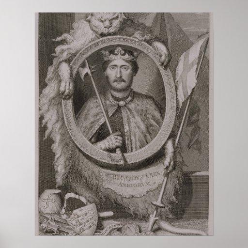 Richard I 'Coeur de Lion' (1157-99) King of Englan Poster