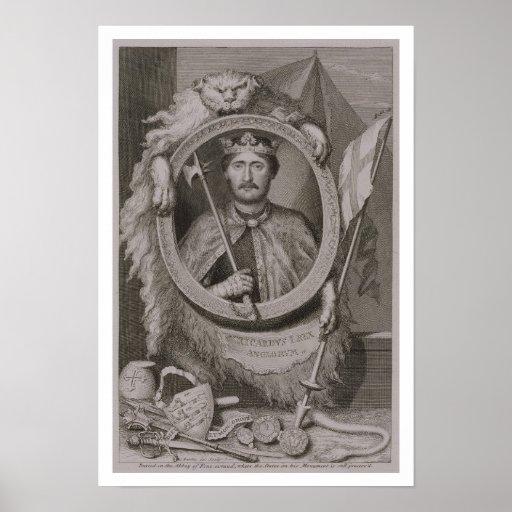 Richard I 'Coeur de Lion' (1157-99) King of Englan Print