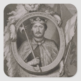 Richard I 'Coeur de Lion' (1157-99) King of Englan Square Sticker
