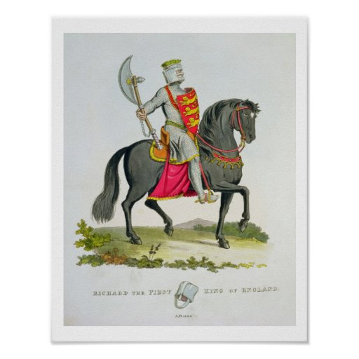 Richard I, King of England (1157-99), 1194, from ' Poster