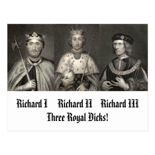 Richard I, Richard II-11111, Richard III-1111, ... Postcard