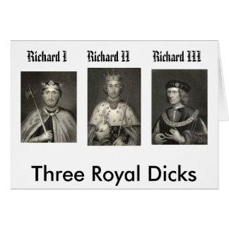 Richard I, Richard II, Richard III, Three Royal... Card