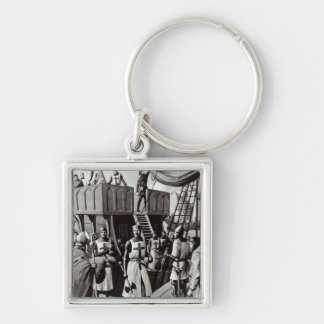Richard I sets sail for the Holy Land, 1939 Silver-Colored Square Keychain