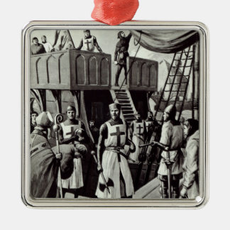 Richard I sets sail for the Holy Land, 1939 Metal Ornament
