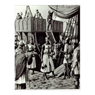 Richard I sets sail for the Holy Land, 1939 Postcard