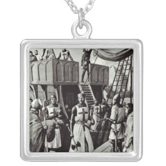 Richard I sets sail for the Holy Land, 1939 Silver Plated Necklace