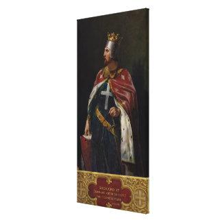 Richard I the Lionheart  King of England, 1841 Canvas Print