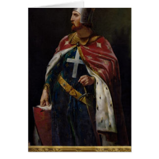 Richard I the Lionheart  King of England, 1841 Greeting Card