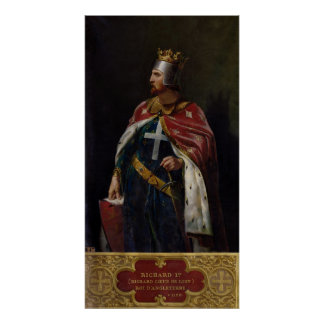 Richard I the Lionheart  King of England, 1841 Poster