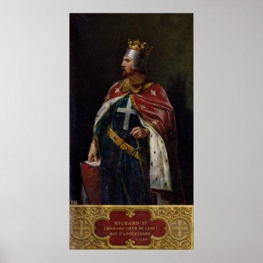 Richard I the Lionheart  King of England, 1841 Print