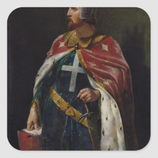 Richard I the Lionheart  King of England, 1841 Square Sticker