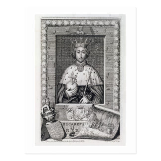 Richard II (1367-1400) King of England 1377-99, af Postcard