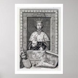 Richard II (1367-1400) King of England 1377-99, af Poster