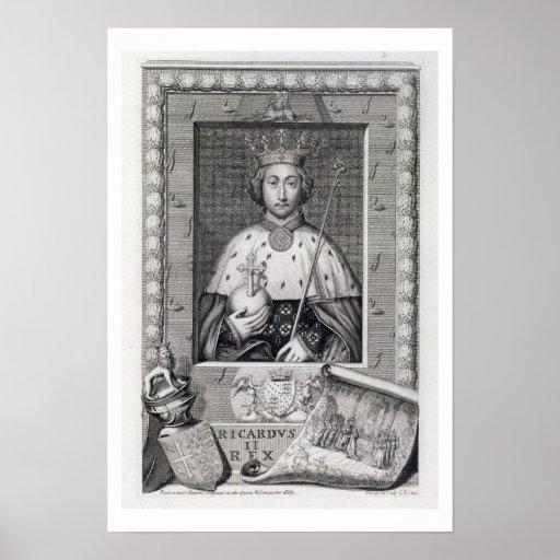 Richard II (1367-1400) King of England 1377-99, af Print