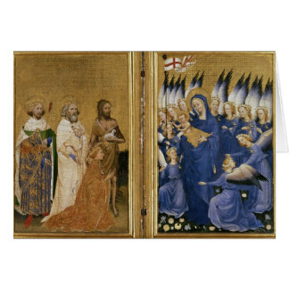 Richard II presentado a la Virgen y al niño Felicitación