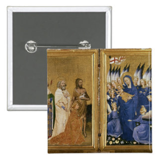 Richard II Presented to the Virgin and Child Pinback Buttons