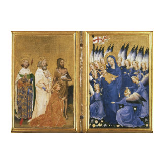 Richard II Presented to the Virgin and Child Canvas Print