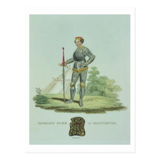 Richard III (1452-85) 1470, grabado por W. Maddock Postales