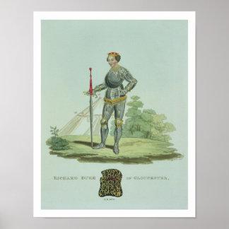 Richard III (1452-85) 1470, grabado por W. Maddock Póster