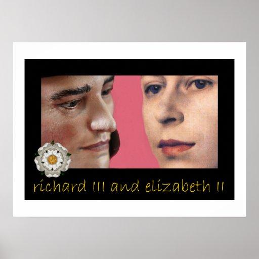 Richard III and Elizabeth II share a secret Posters