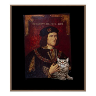 Richard III and his cat Poster