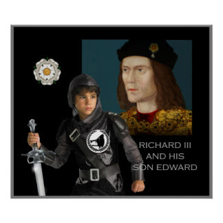 Richard III and his son Edward Poster