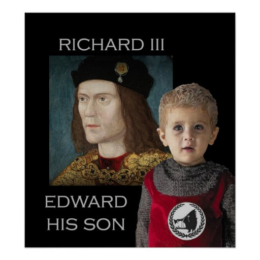 Richard III and his son Edward Posters