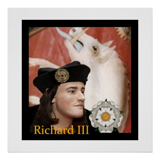 Richard III and his White Boar Badge Poster