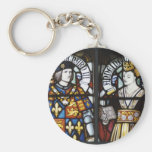 RICHARD III AND QUEEN ANNE OF ENGLAND BASIC ROUND BUTTON KEYCHAIN