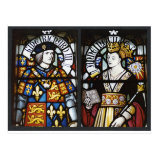 RICHARD III AND QUEEN ANNE OF ENGLAND POSTCARD