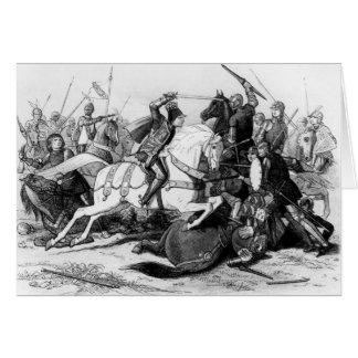 Richard III  at the Battle of Bosworth in 1485 Cards