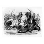 Richard III  at the Battle of Bosworth in 1485 Postcard