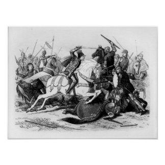 Richard III  at the Battle of Bosworth in 1485 Posters