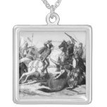 Richard III  at the Battle of Bosworth in 1485 Square Pendant Necklace