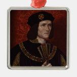 Richard III de Inglaterra Adorno Cuadrado Plateado
