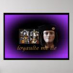 Richard III in royal purple Poster