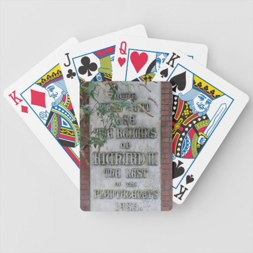 Richard III Memorial in Leicester, England Bicycle Playing Cards