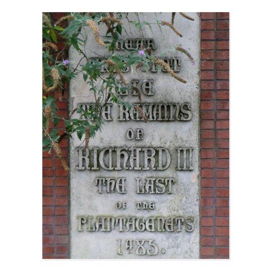 Richard III Memorial in Leicester, England Postcard