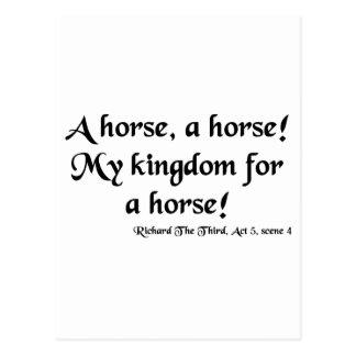 """Richard III """"mi reino para artículos de un Postales"""