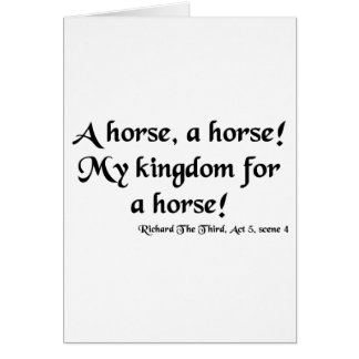 "Richard III ""My Kingdom for a Horse"" Items Card"