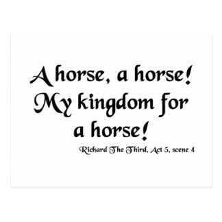 "Richard III ""My Kingdom for a Horse"" Items Postcard"