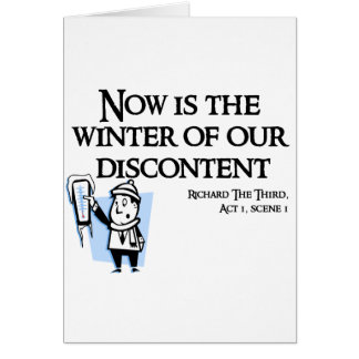 Richard III - Now is the Winter of our discontent Cards