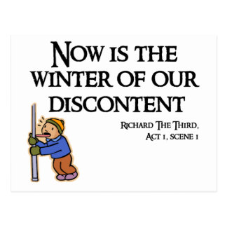 RIchard III - Now is the Winter of our Discontent Postcard
