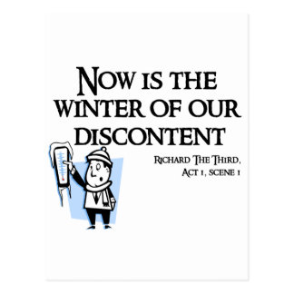 Richard III - Now is the Winter of our discontent Post Card